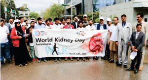Shifa Dialysis Center G-10 Islamabad, Organized Awareness Walk & Free Health Camp on World Kidney Day