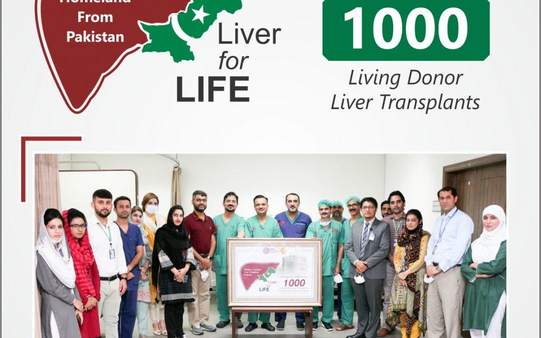 Shifa Reaches milestone of 1000 Liver Transplants in Pakistan
