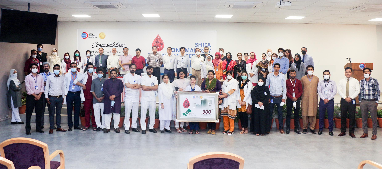 bmt team achieving 300 transplants
